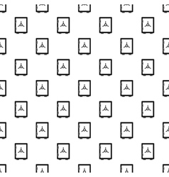 Safety deposit box pattern simple style vector