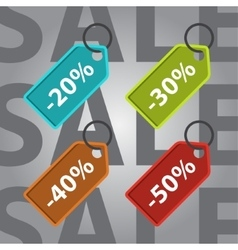 sale and discount colored icons vector image