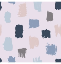 Seamless brush strokes pattern vector image