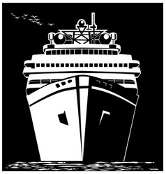 stylized ocean liner vector image vector image
