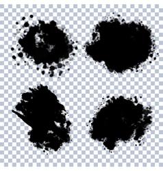 Transparent Blots Set vector image
