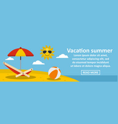 vacation summer banner horizontal concept vector image vector image
