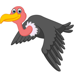 vulture cartoon flying vector image