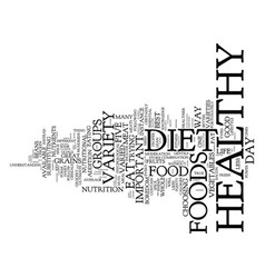 Your best key to a healthy diet variety text vector