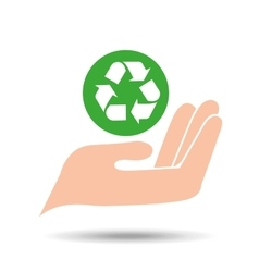 Environment friendly concept recycle symbol vector