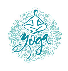 Lotus yoga pose abstract colorful vector