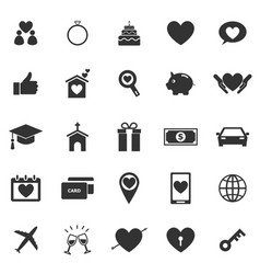 Family icons on white background vector