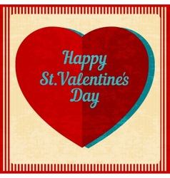Vintage valentines day background vector