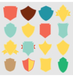 Set of color shield retro vintage badges and label vector