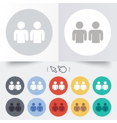 Friends sign icon social media symbol vector
