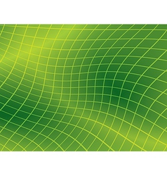 Bright green background with distorted grid vector