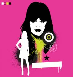 model pop grunge illustration vector image