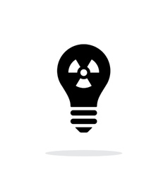 Atomic light icon on white background vector