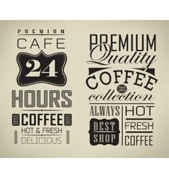 Poster lettering take coffee vector