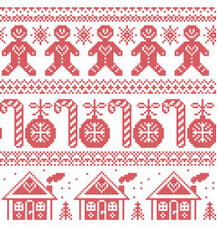 Scandinavian nordic seampless pattern with ginger vector