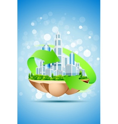The Island of Green Business vector image