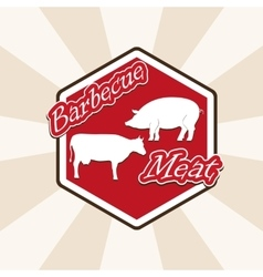 Barbecue beef and pork vector