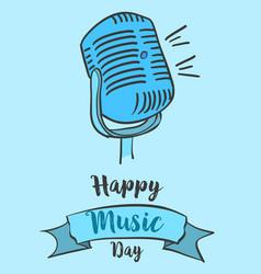 Art music day card style vector