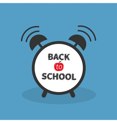Back to school Alarm clock with chalk text Blue vector image vector image