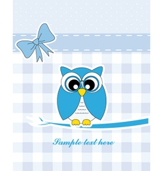 blue owl vector image vector image