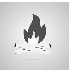 Bonfire logo labels and badges vector image vector image