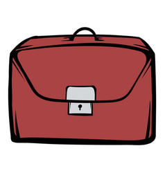 Brown business briefcase icon cartoon vector