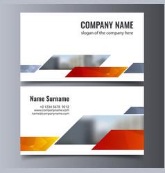 business card template creative corporate vector image
