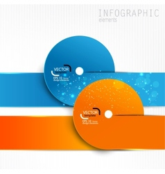Colorful paper design elements on white background vector image vector image