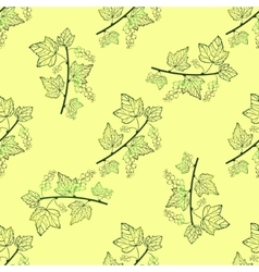 Contour currant seamless pattern vector image