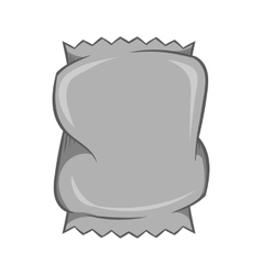Crumpled packaging icon black monochrome style vector