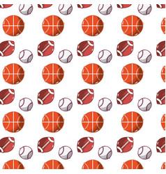 Differents balls to play games background vector
