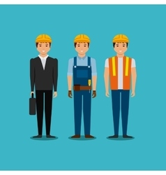 Engineer and construction workers vector