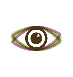 Eye sign colorful icon vector