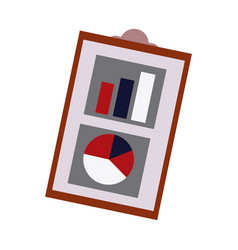 Financial report business clipboard with financial vector