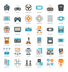 Game technology flat icon vector