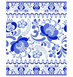 Gzhel seamless pattern vector