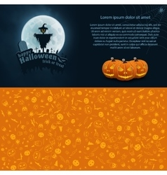 Happy Halloween Postcard vector image vector image
