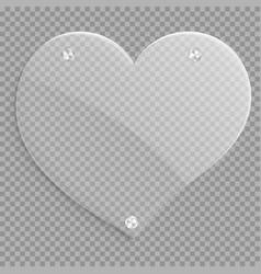 icon glossy heart vector image