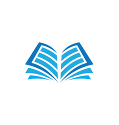 open book logo education vector image