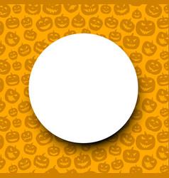 Orange round halloween background vector