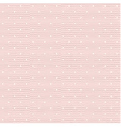 Pink lacy seamless pattern with polka dots vector image vector image
