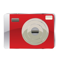 Red digital camera2 vector image
