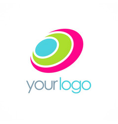 Round color loop logo vector