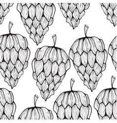 seamless pattern with funky cones vector image vector image
