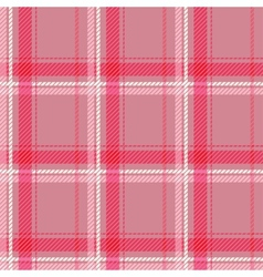 Seamless pink tartan pattern fabric vector image