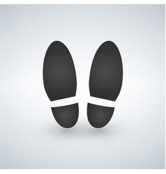 Shoe print - black icon with shadow vector