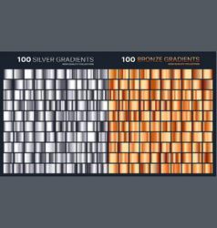 silverbronze gradientpatterntemplateset of vector image vector image