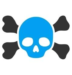 Skull And Bones Icon vector image vector image