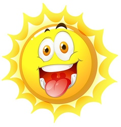 Sun with happy face vector