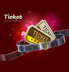 Ticket movie cinema object vector